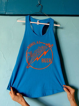 tank top with electric beer logo