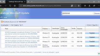 Microsoft disponibiliza atualização KB4284848 para o Windows 10 v1803