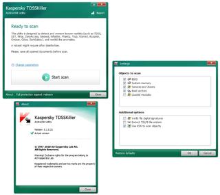 Kaspersky TDSSKiller v3.1.0.21