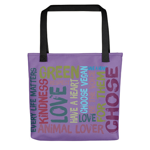 Every Life Matters / Tote Bag / Purple