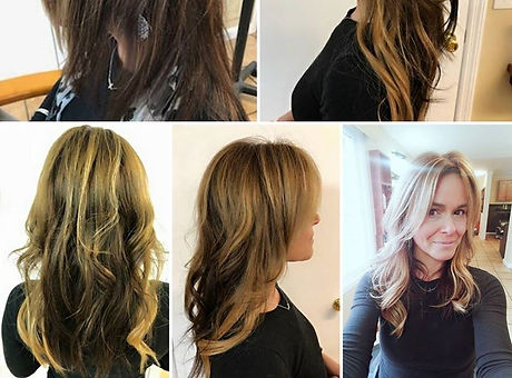 Add a little fun to your hair in just minutes with tape in extensions...  Love your hair... filter f