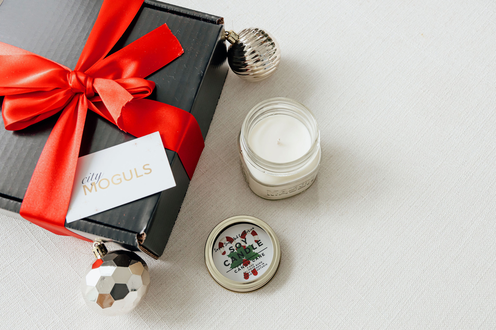 Soy Candy Cane Candle