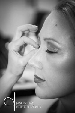 Black and white eyelash application