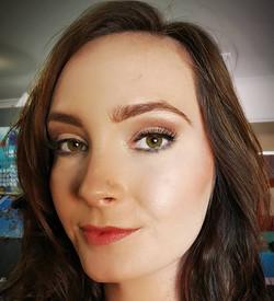Bridal hair and makeup headshot