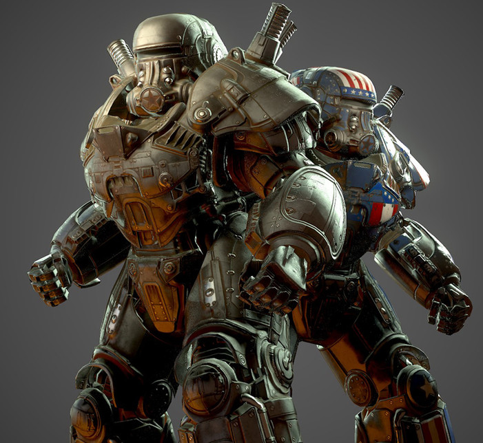 Fallout 76: Liberty Prime & Super Patriot power armors