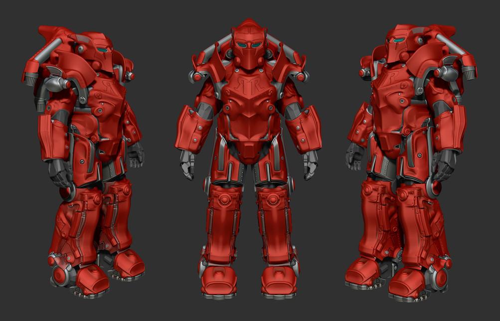 Fallout 76: Red Rocket Ranger power armor
