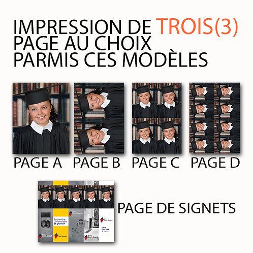 GRADUATION 3 PAGES/45$