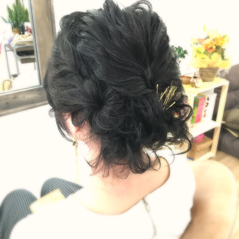 黒髪アレンジ