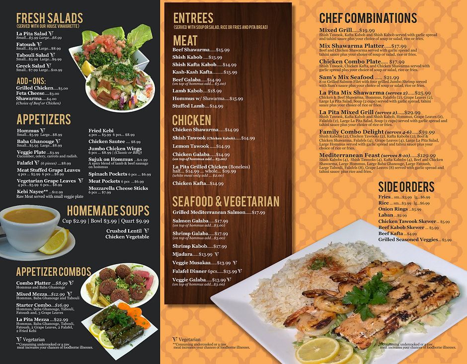 La Pita Carry Out Menu