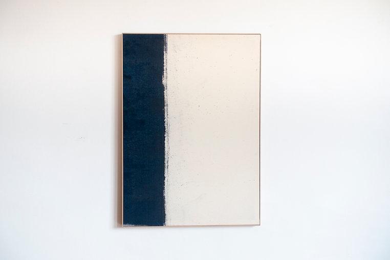 Zefiro - Photosensitive paint on raw canvas, weather  - 103x75 cm - 2021