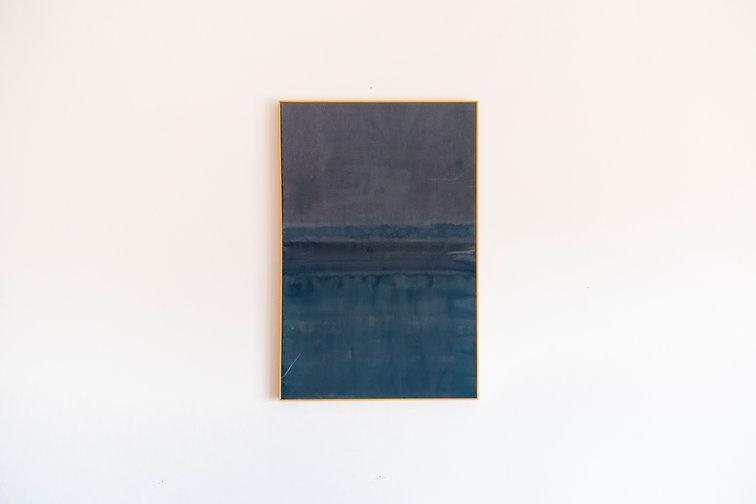 Aura - Photosensitive paint on raw canvas, weather  - 83x55 cm - 2021