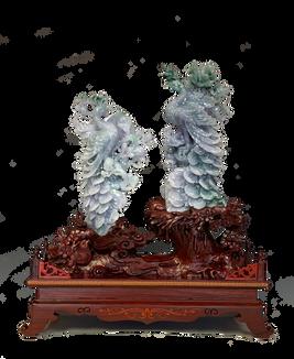 Jadeite Pair of Phoenix