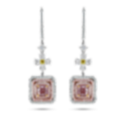 Fancy Light Pink Diamond Drop Earrings