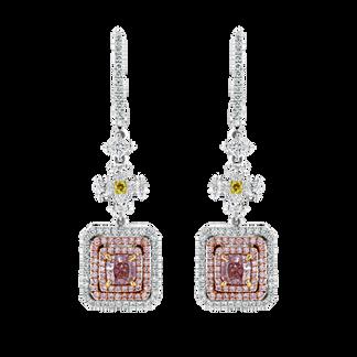 Fancy Light Pink Diamond Earrings