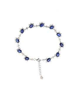 18KT Sapphire & Diamond Bracelet
