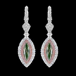 Fancy Green Diamond Earrings