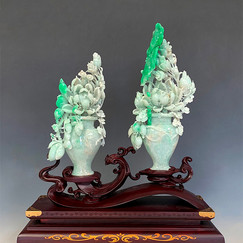 Jadeite Pair of Vase