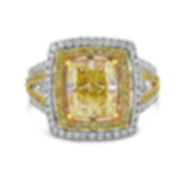 Fancy Light Yellow Diamond Ring