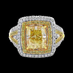 Fancy Light Yellow Diamond Ring
