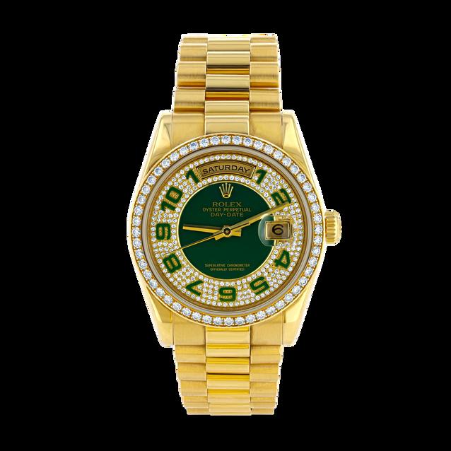 Rolex Presidential Watch With Jade Bezel