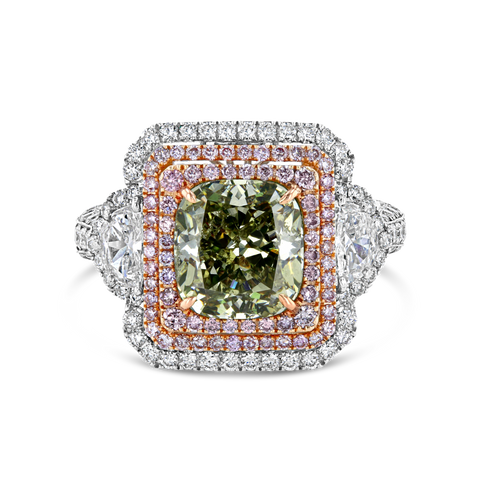 Fancy Green Diamond Ring