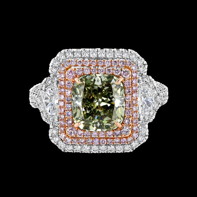 Fancy Green Diamond Ring