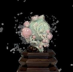 Jadeite Large Peach