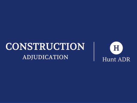 Hunt ADR Certificate in Construction Dispute Boards