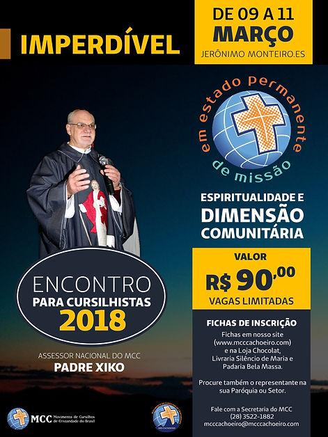 Convite Encontro para Cursilhistas 2017