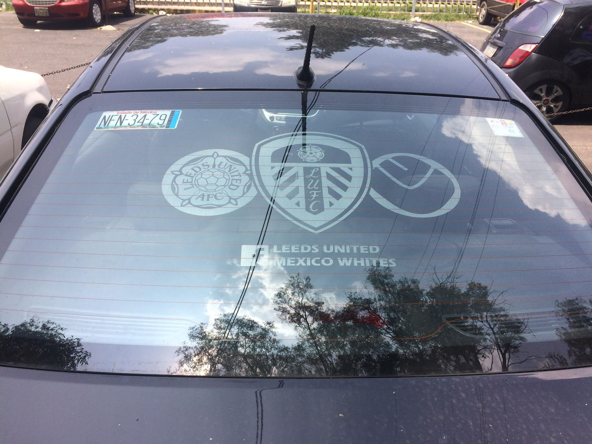 Leeds United window graphic
