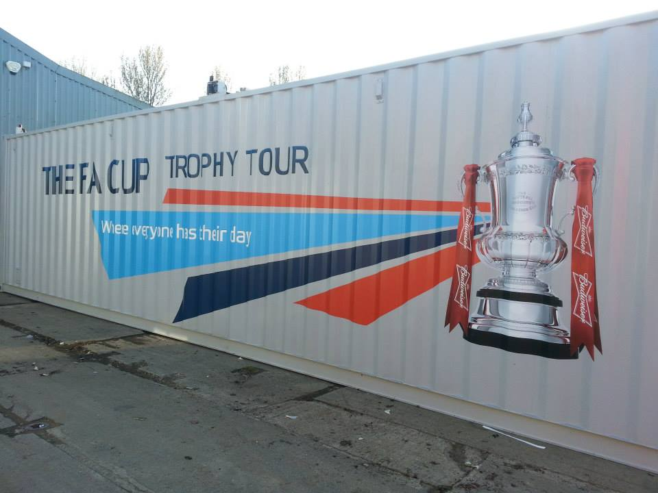 FA Cup Shipping Container