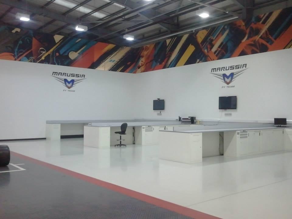 Marussia F1 HQ Garage