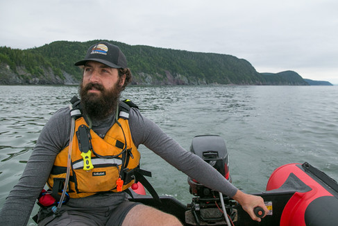 Mike Carpenter on the Bay of Fundy