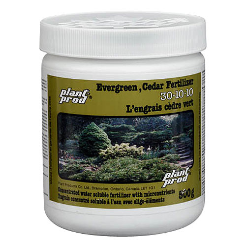 Protecting Your Evergreens Against Winter Needle Sunscald: Example of an evergreen fertilizer.