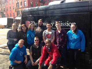 Day 5. Kitchen Service, Prayer Walks, Times Square, Headquarters, Volunteer Coordinating ... This da
