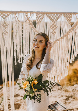 Coordinator: Julia Brudzinski Makeup and Hair: Nicole Ostonal Models: Kierstyn Joanna, Julia Brudzinski, Kevin Wawrzyn, Andre Catarino Photographers:  Avery Wassel Photography, Astevens Productions Bemiro Photography Bridal Shop: Lidias Brides Macrame: Megan Anne Macrame Videographer: Douglas Productions Jewellery: Maple Lane Jewelry Arch: Beautiful Starry Arch