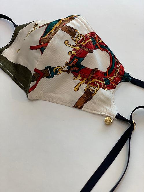 ビンテージスカーフ柄オリジナルマスク