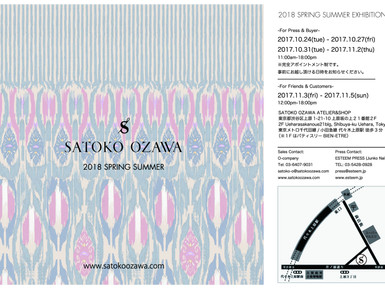 SATOKO OZAWA 18S/S EXHIBITION