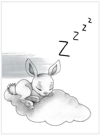 SWEET DREAMS RABBIT,BLUE