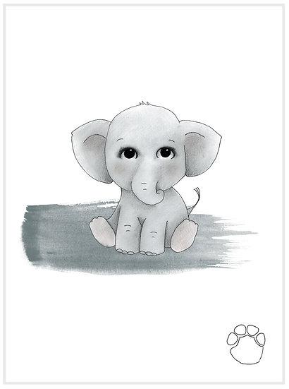 ELEPHANT, BLUE