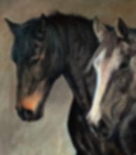 Horse portrait pastel painting