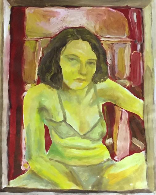 Self Portrait in Oil on Cotton
