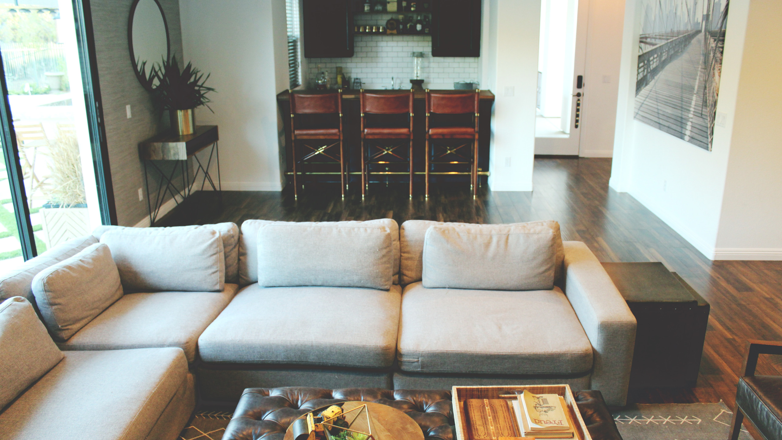 After: Family Room + Bar