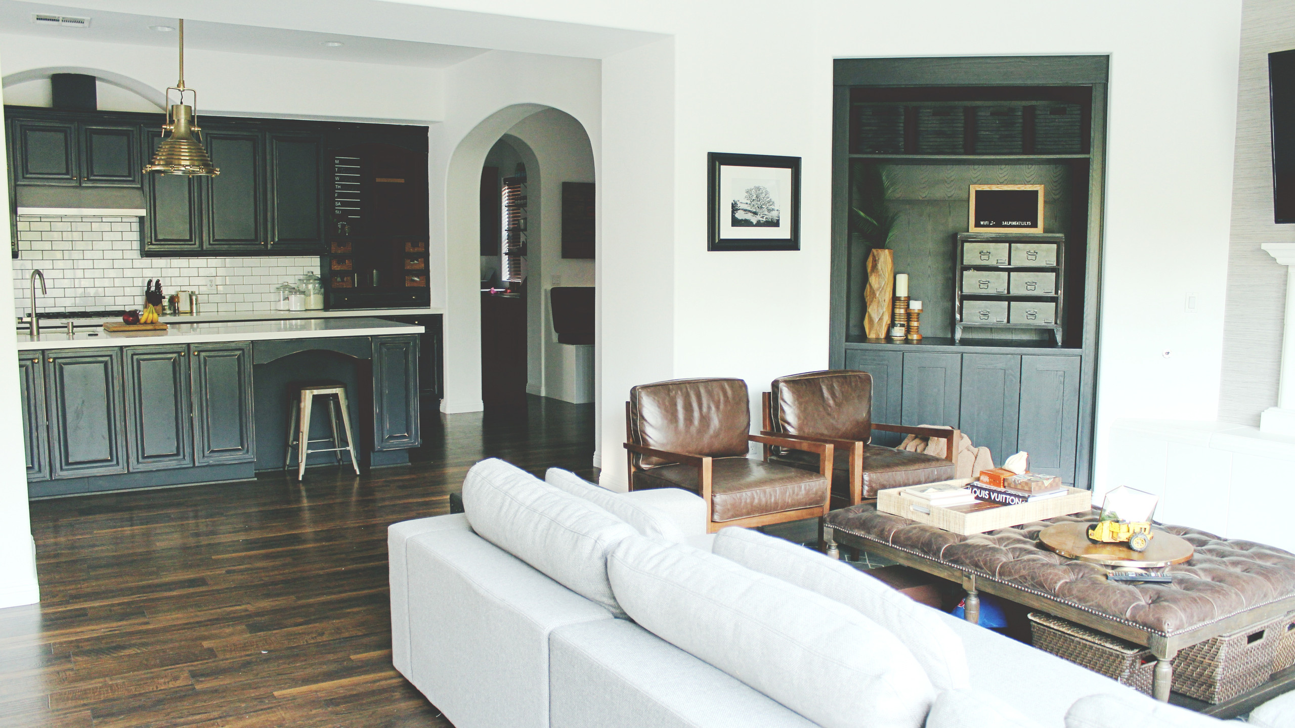 After: Family Room + Nook