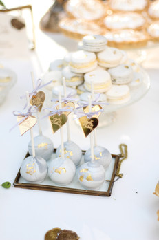 Sweet Table Marble Gold
