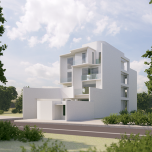House with White Curves