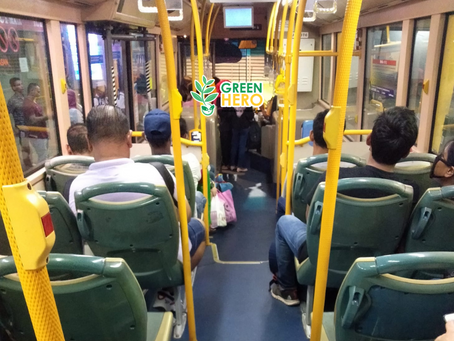 How Calvin Chan develop a new habit to take public transport?