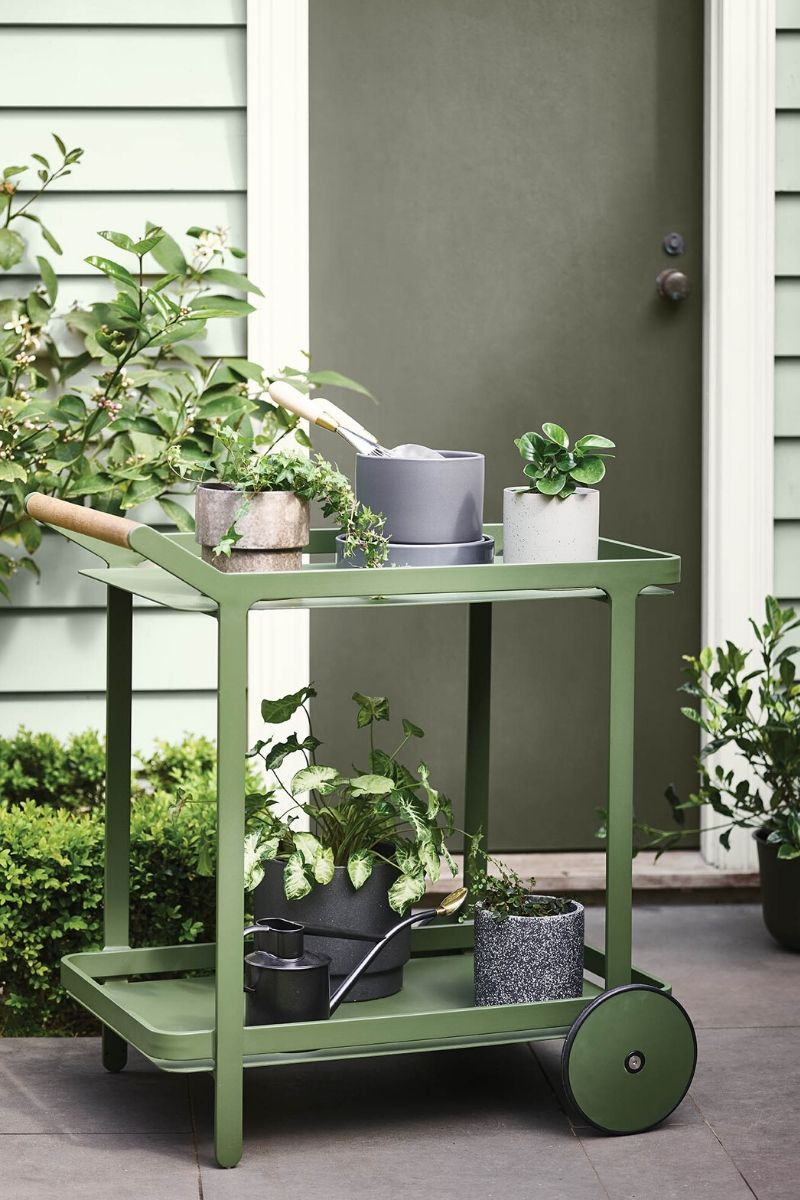 Potting shed outdoor trolley