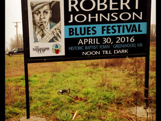 ROBERT JOHNSON PORTRAIT CREATED FOR BLUES FESTIVAL