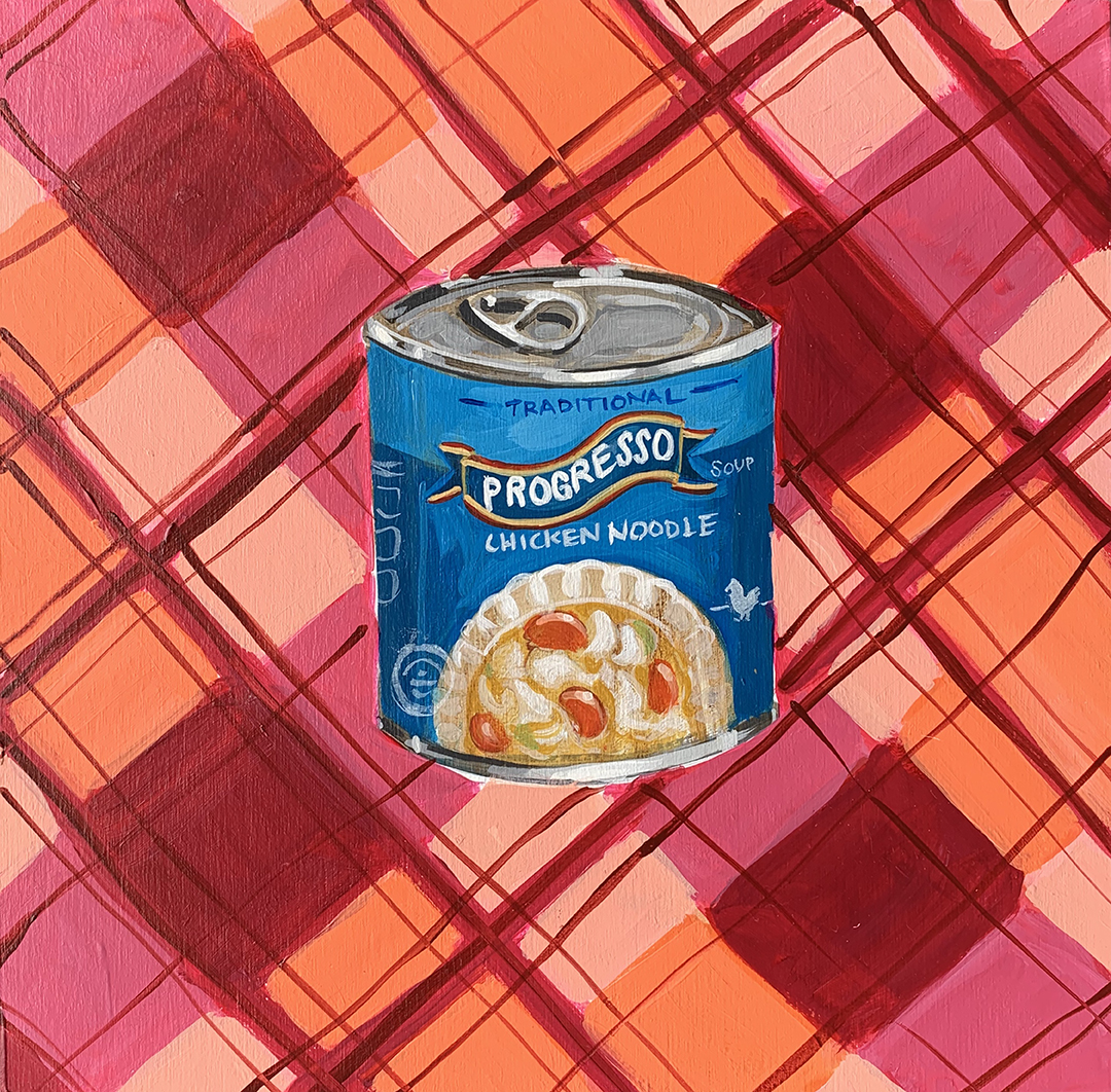 COVID QUILT BLOCK: CHICKEN NOODLE SOUP (23/24)